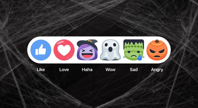 Facebook comemora Halloween com reactions de bruxa e filtros temáticos